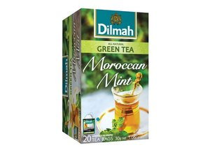 Dilmah Green Tea Moroccan Mint 20 Teabags (50 grams)