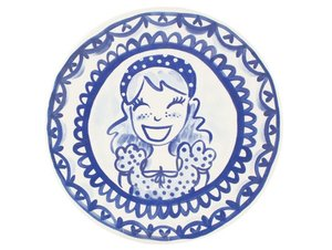 Blond Amsterdam Dinner Plate Girl 26 cm