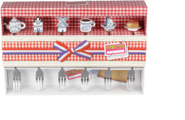 Blond Amsterdam Cake Forks Delfts Blond Set of 6