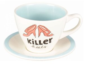 Blond Amsterdam Blondelicious Cup and Saucer Blue