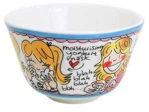 Blond Amsterdam Bowl Blue Text 14 cm