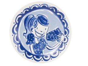 Blond Amsterdam Cake Plate Delfts Blond Girl 18 CM