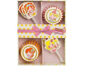 Blond Amsterdam Cupcake Decoration Set