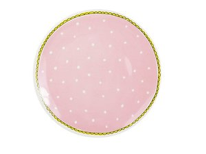Blond Amsterdam Dinner Plate Pink Dot 26 cm