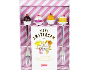 Blond Amsterdam Cake Forks Small Talk Set of 4