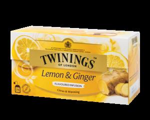 Twinings Lemon & Ginger Herbal infusion 25 Teabags (37,5 grams)