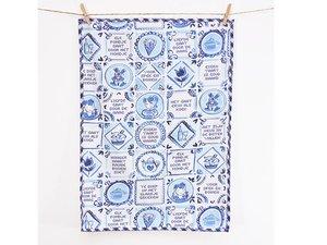 Blond Amsterdam Textile Tea Towel Delfts Blond
