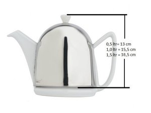 Bredemeijer Cosy Manto Teapot White 1.5 L, replacement teapot