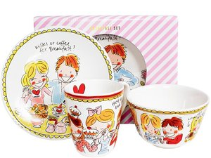 Blond Amsterdam Breakfast Set Small Talk Red