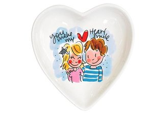 Blond Amsterdam Bowl Heart Blue 16,5 cm