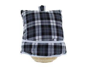 Teacosy with basket: Scottish Tartan Black
