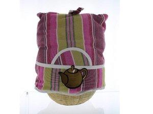 Teacosy with basket: Markiese stripe pattern