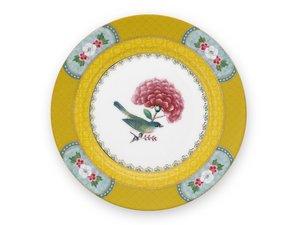Pip Studio Pastry Plate Blushing Birds Yellow 17 cm