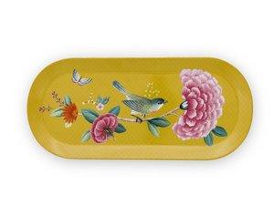 Pip Studio Cake Tray Oval Blushing Birds Yellow