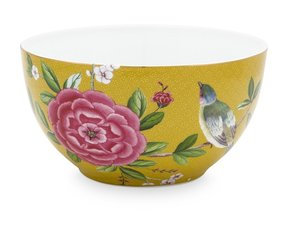 Pip Studio Bowl Blushing Birds Yellow 15 cm