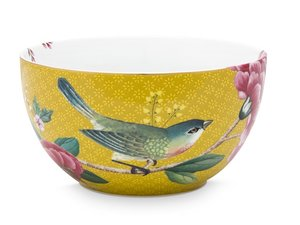 Pip Studio Bowl Blushing Birds Yellow 12 cm