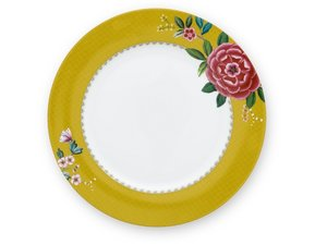 Pip Studio Dinner Plate Blushing Birds Yellow 26,5 cm