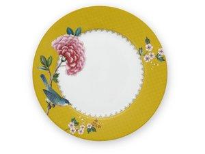 Pip Studio Plate Blushing Birds Yellow 21 cm