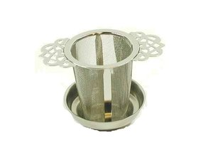 Stainless Steel Filter with 2 artistic handles- 5,5 cm diameter
