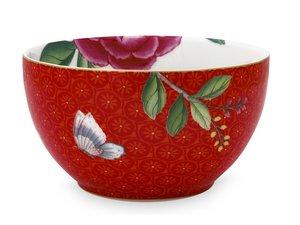 Pip Studio Bowl Blushing Birds Red With Flower 9,5 cm