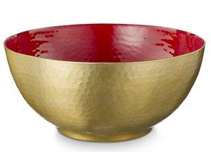 Pip Studio Blushing Birds Gold Bowl Red 27 cm