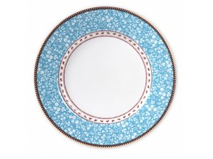Pip Studio Plate Early Bird Lovely Branches Blue 26.5 cm