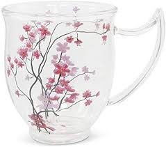 TeaLogic Cherry Blossom glass mug
