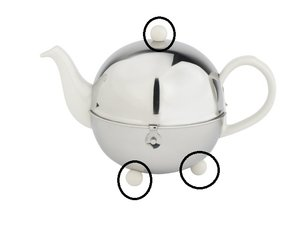 Bredemeijer Cosy Teapot 1300W - 1301W -1302W Cream Replacement Knob