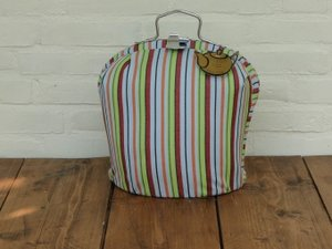 Teacosy with clip: Colorful Stripe pattern