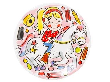 Blond Amsterdam Unicorn Plate 18 CM