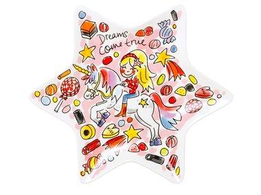 Blond Amsterdam Unicorn Star Shaped Plate 22 CM