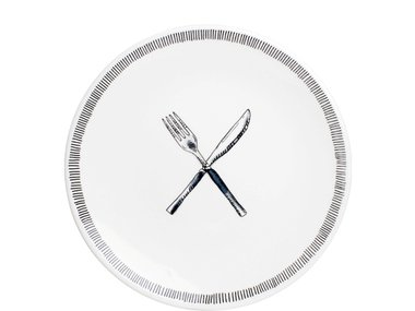 BLond X Noir Plate 22 cm Fork & Knife