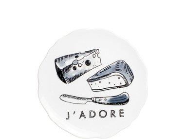 BLond X Noir Plate 15 cm J'Adore