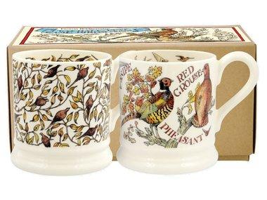 Emma Bridgewater 1/2 Pt. Mug Roosting Pheasants Set of 2
