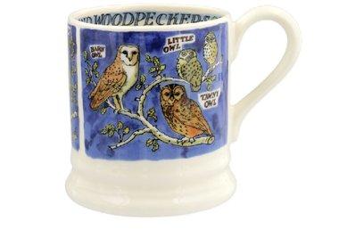 Emma Bridgewater 1/2 Pt. Mug Owls Woodpeckers