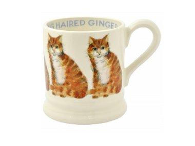 Emma Bridgewater 1/2 Pt. Mug Long Hair Ginger Cat