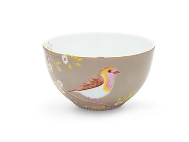 Pip Studio Bowl Early Bird Khaki 15 cm