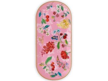 Pip Studio Cake Tray Oval Hummingbirds Pink