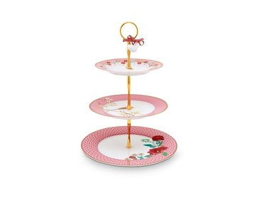 Pip Studio Cake Stand 3 layers Floral Pink