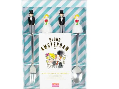 Blond Amsterdam 2 Cake Forks and 2 Teaspoons Wedding