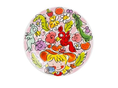 Blond Amsterdam Petit Four Plate Paradise Pink 12 CM