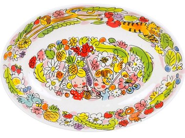 Blond Amsterdam Oval Bowl Paradise Pink 28,5 cm