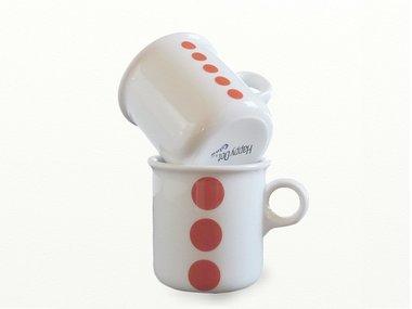 Eslau Bornholm red mugs, set of 2