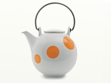 Eslau Bornholm Orange Polkadot 1,4 liter teapot
