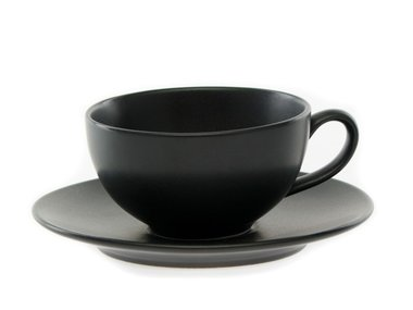Eslau Bornholm black cup & saucer (set 2)