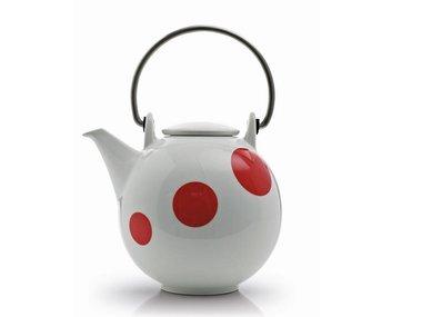 Eslau Bornholm red Polkadot 1,4 liter teapot