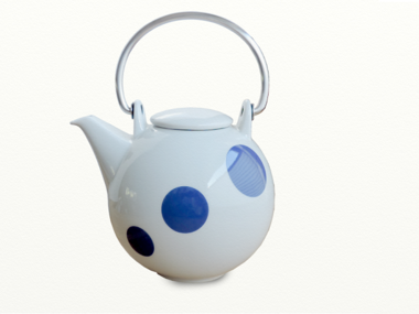 Eslau Bornholm blue Polkadot 1,4 liter teapot