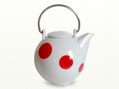 Eslau Bornholm red Polkadot 2,6 liter teapot