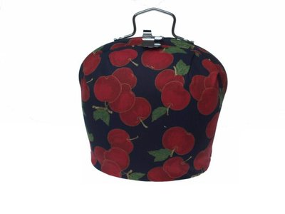 Teacosy with clip: cherries pattern