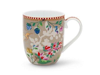 Pip Studio Mug Small Hummingbirds Khaki